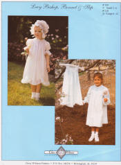 Chery Williams Patterns Lacy Bishop, bonnet and Slip