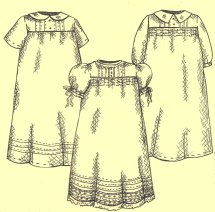 Tucked Infant Gown