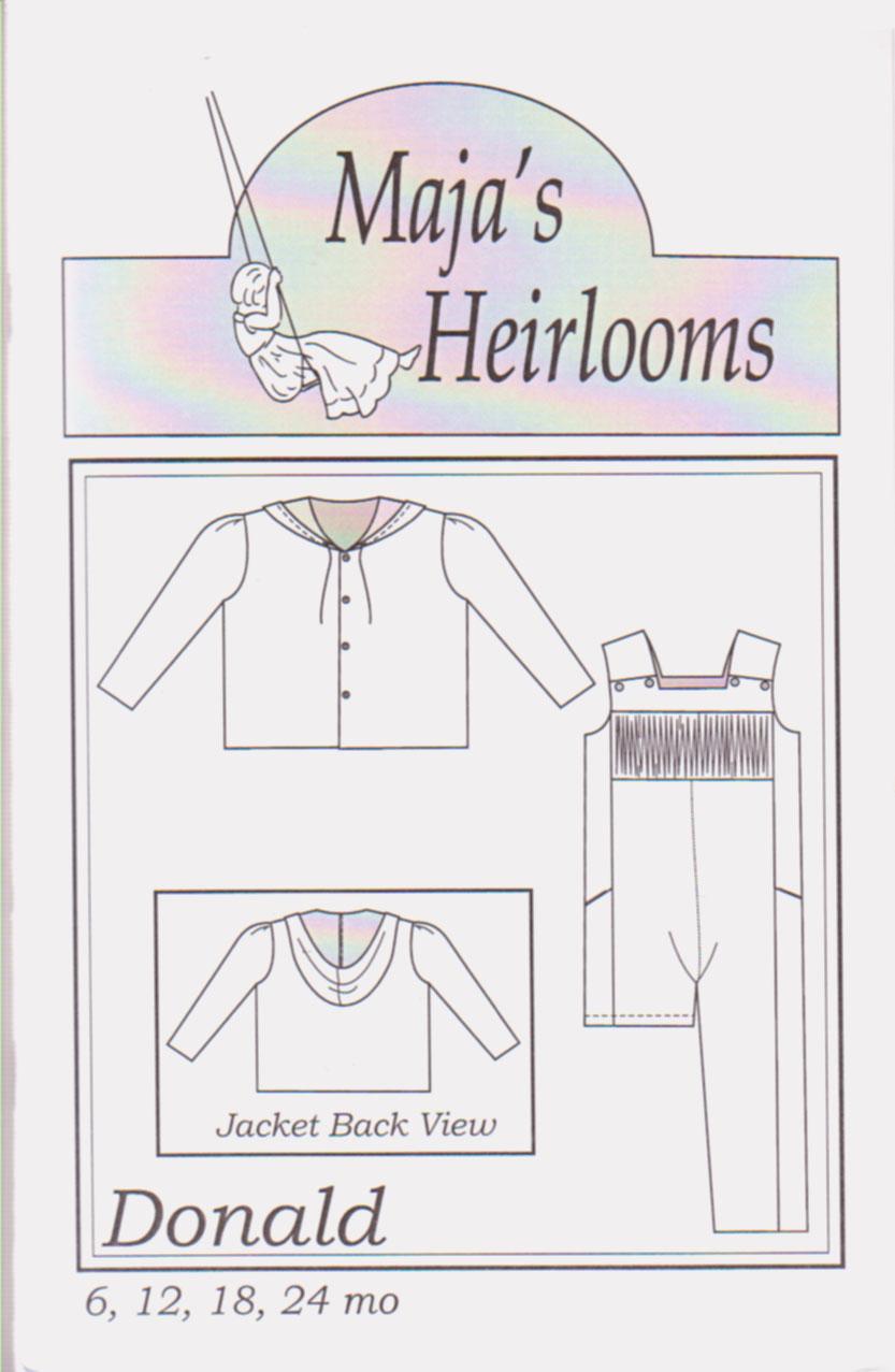 MAJA/'S HEIRLOOMS PATTERNS ~ JORDAN ~ INFANT SIZES 3-12 MONTHS ~ ROMPER